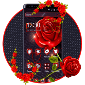 3D Black And Red Rose Theme🖤🌹