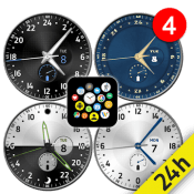 12/24-hour Analog Watch Face Pack for Bubble Cloud